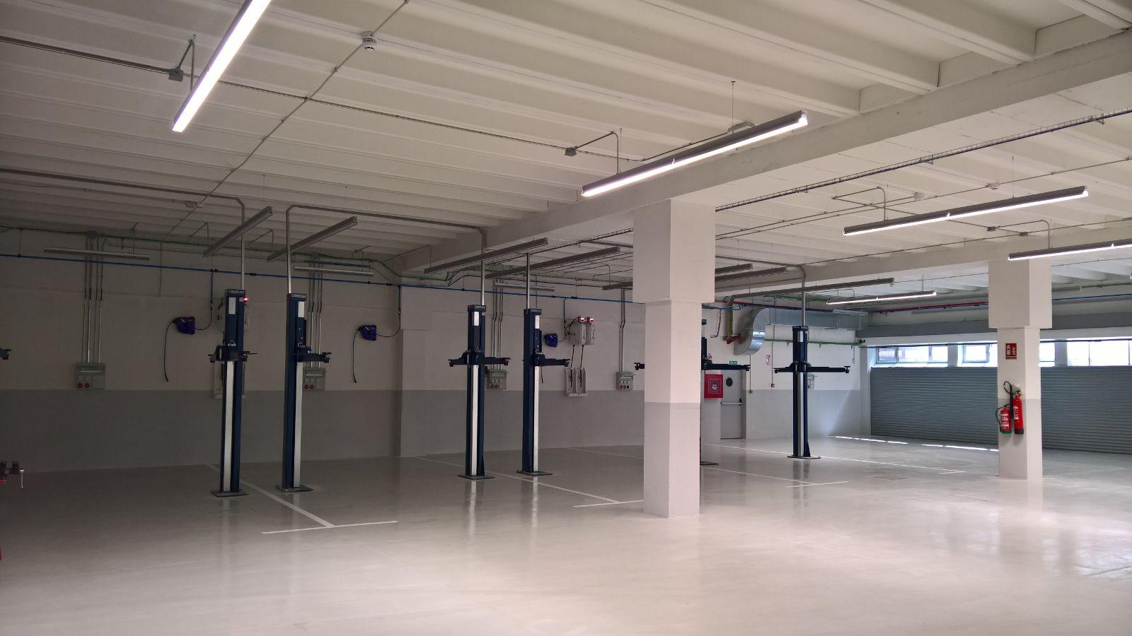 Instalación elevadores de coches Nussbaum